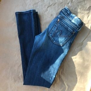Citizens Of Humanity Ava Straight Leg Distressed
